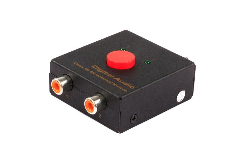 Digital Audio COAX Bi-Directional Switcher 2x1